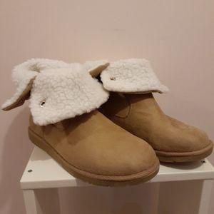 2 for $25- Airwalk Faux Sheepskin Boots. Size 10